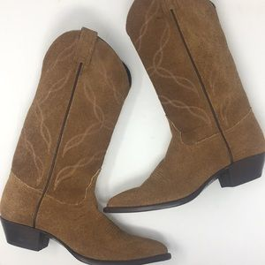 Tony Lama Cowboy Boots Brown Tan 8